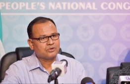 Maduvvari MP elect and former Defence Minister Adam Shareef. PHOTO: HUSSAIN WAHEED / MIHAARU