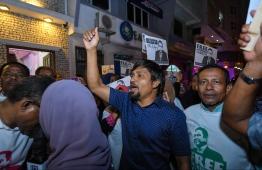 Protestors demanding the release of former president Yameen. PHOTO: HUSSAIN WAHEED/ MIHAARU