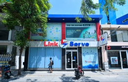 An outlet of Link Serve located in the capital city of Male'. PHOTO: HUSSAIN WAHED/ MIHAARU