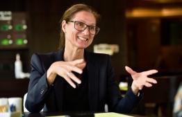 State Secretary of Norway, Marianne Hagen. PHOTO: AHMED NISHAATH/ MIHAARU