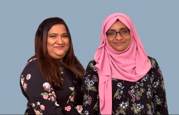 Representing 'Women in Tech' are the NGO's President Hafsath Ali (left), accompanied by member Nazima Adam (right), the Manager Purchasing of Ooredoo Maldives. Friends and colleagues for several years, they've achieved a lot together and as individuals, over the years. PHOTO: THE EDITION/ HAWWA AMAANY ABDULLA