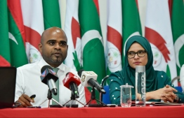 During the ceremony held to release the Anti-Corruption Commission's annual report for 2018. PHOTO: HUSSAIN WAHEED / MIHAARU