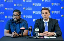 Press conference held at FAM with the ambassador of FIFA. PHOTO: MIHAARU / NISHAN ALI.