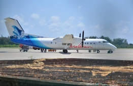 A domestic flight owned by national airline 'Maldivian'. PHOTO: MIHAARU FILES