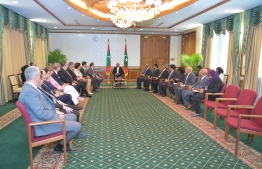 The delegation of European Union Ambassadors calls on President Ibrahim Mohamed Solih. PHOTO: PRESIDENT'S OFFICE