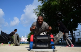 Primalete co-founder and Chief Executive Officer (CEO) Mohamed Zaiyn and other Primalete trainers working out at Ekuveni. PHOTO: PRIMALETE FITNESS