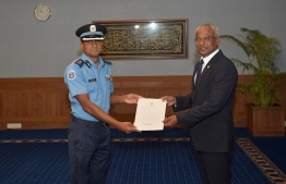 DCP Mohamed Hameed appointed as Commissioner of Police. PHOTO: PRESIDENTS OFFICE