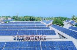 Solar panels installed in the staff quarters of Landaa Giraavaru, a local resort. World Bank advised Maldives to invest in renewable energy, adding that it can contribute to the economic recovery of the country. PHOTO: SWIMSOL/ LANDAA GIRAAVARU
