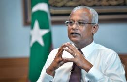 President Ibrahim Mohamed Solih. PHOTO: NISHAN ALI/MIHAARU