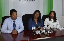 Ministry of Health's press conference regarding the tertiary hospital to be established in Thinadhoo, Gaafu Dhaalu Atoll. PHOTO: HEALTH MINISTRY.