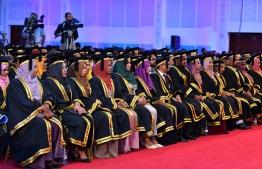 Maldives National University (MNU) Graduation 2019. PHOTO: PRESIDENT'S OFFICE