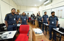 Maldives Immigration staff during the PISCES border control system training. PHOTO: HUSSAIN WAHEED / MIHAARU