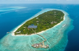 An aerial view of Soneva Fushi in the Biosphere reserve of Baa Atoll. PHOTO: SONEVA RESORTS