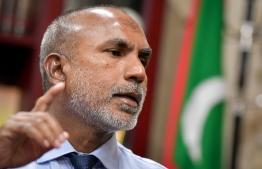 Minister of Islamic Affairs Dr Ahmed Zahir. PHOTO: NISHAN ALI/ MIHAARU