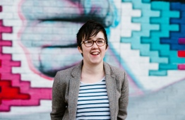 A handout picture released by Jess Lowe Photography on April 19, 2019 and taken on May 19, 2017 shows journalist and author Lyra McKee posing for a photograph in Belfast. - Journalist Lyra McKee was shot dead overnight during riots in the Creggan area of Derry, Northern Ireland, in what police on April 19, 2019 were treating as a terrorist incident following the latest upsurge in violence to shake the troubled region. PHOTO: JESS LOWE PHOTOGRAPHY / AFP