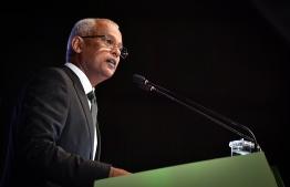 President Ibrahim Mohamed Solih addresses attendees at 127th Anniversary of MNDF PHOTO: NISHAN ALI/MIHAARU