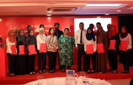 A photograph taken at the ceremony held in Champa Central Hotel to mark the second year of  the Graduate Internship Program. PHOTO: BML