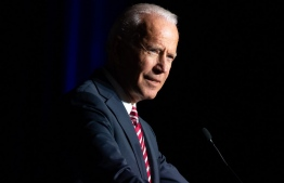 (FILES) In this file photo taken on March 16, 2019, former US Vice President Joe Biden speaks during the First State Democratic Dinner in Dover, Delaware. - After months of reflection, Joe Biden was set to launch his US presidential bid April 25, 2019, positioning the veteran Democrat as a frontrunner among the many candidates seeking to challenge Donald Trump in 2020. The party's 76-year-old senior statesman, whose announcement was expected to arrive via online video post, would become the most experienced and recognized Democrat in the race, a popular former vice president dominating early polls following months -- even years -- of campaign planning. (Photo by SAUL LOEB / AFP)