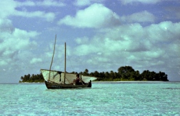 A small sail dhoni (traditional boat) in the Maldives during the '70s. PHOTO: FRANK BURNABY