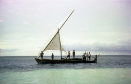 Locals setting out for a trip on a sail dhoni (traditional boat). PHOTO: FRANK BURNABY