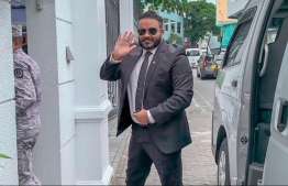 Former Vice President Ahmed Adeeb entering the Supreme Court. PHOTO: MIHAARU FILES