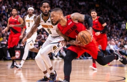 Trail Blazers face the Denver Nuggets in the second round of the playoffs on May 1 2019 at the Pepsi Center. Bruce Ely / Trail Blazers