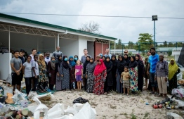 Participants of the 'Fresh Start' clean-up which was organised by the island councils of Maalhos, Dharavandhoo and Kihaadhoo of Baa Atoll supported by Soneva Fushi. PHOTO: SONEVA FUSHI
