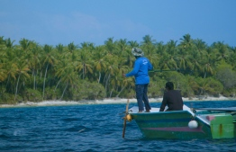 Mohamed during one of his fishing trips. PHOTO: MIHAARU
