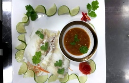 A plate set by Thai Palace. PHOTO: THAI PALACE