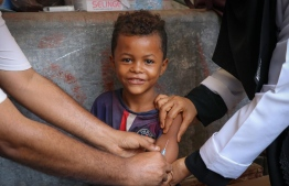 Vaccines act as a shield, protecting children and newborn babies. PHOTO:UNICEF/UN0284427/Fadhel