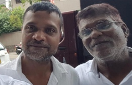 'Baikandi' Hassan Manik (L) and 'Funama' Adam Manik arrested in Sri Lanka. They were both released after approximately a month in custody. PHOTO: MIHAARU FILES