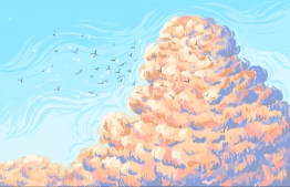 'Blooming Cloud'. ILLUSTRATION / AISHATH SHAIMA ALI