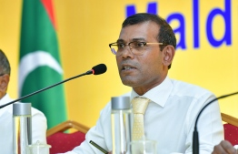 Former President of Maldivian Democratic Party (MDP) Mohamed Nasheed. PHOTO: NISHAN ALI/ MIHAARU
