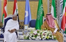 President Solih visited Sudi Arabia in May. PHOTO: PRESIDENTS OFFICE