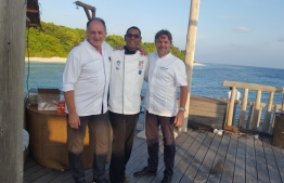 Chef Sobah posing for a picture with his colleagues. PHOTO: MIHAARU