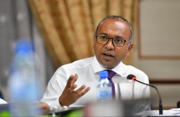 MDP Chairperson and Henveiru West MP Hassan Latheef speaks at a parliamentary committee meeting. PHOTO/MIHAARU