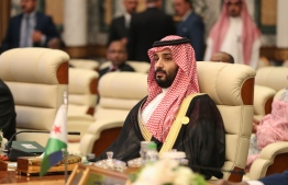 """(FILES) In this file photo taken on May 31, 2019 Saudi Crown Prince Mohammed bin Salman attends the extraordinary Arab summit held at al-Safa Royal Palace in Mecca. - Saudi Crown Prince Mohammed bin Salman accused rival Iran of attacks on two oil tankers in a vital Gulf shipping channel, adding he """"won't hesitate"""" to tackle any threats to the kingdom, according to excerpts of an interview published on Sunday June 15, 2019. (Photo by BANDAR ALDANDANI / AFP)"""