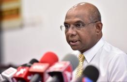 Minister of Foreign Affairs Abdulla Shahid. PHOTO: NISHAN ALI/ MIHAARU