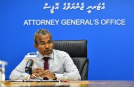 Attorney General Ibrahim Riffath: the AG Office finalised a bill to amend the Penal Code of Maldives, seeking to criminalise illicit enrichment. PHOTO/MIHAARU