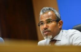 Attorney General (AG) Riffath. PHOTO: HUSSAIN WAHEED/ MIHAARU