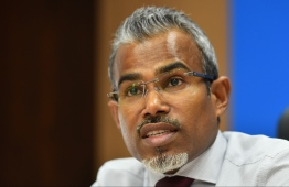 Attorney General (AG) Ibrahim Riffath. The state proposed a sunset bill to postpone the local council elections due to the COVID-19 pandemic. PHOTO: MIHAARU