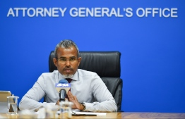 Attorney General (AG) Ibrahim Riffath. PHOTO: HUSSAIN WAHEED / MIHAARU