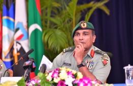 Chief of Maldives National Defence Force, Major General Abdulla Shamaal
