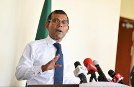 Speaker of Parliament Mohamed Nasheed. PHOTO: MIHAARU