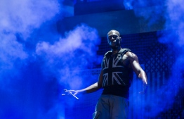 British rapper Stormzy, real name Michael Omari Owuo Jr, performs on the Pyramid Stage on the third day of the Glastonbury Festival of Music and Performing Arts on Worthy Farm near the village of Pilton in Somerset, South West England, on June 28, 2019. (Photo by Oli SCARFF / AFP)