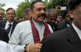 It is reported that Mahinda Rajapaksa arrived in Maldives for holiday. PHOTO: AFP