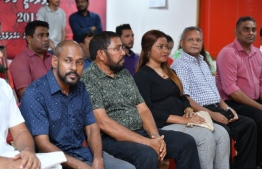 From the ceremony held to welcome new members to the party. PHOTO: HUSSAIN WAHEED / MIHAARU