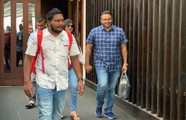 Former Vice President Ahmed Adeeb at Velana International Airport (VIA) on July 7 after arriving in Maldives after medical treatment in India. PHOTO: SOCIAL MEDIA