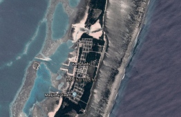 A satellite capture of the island of Kolhufushi, in Meemu Atoll. PHOTO: GOOGLE EARTH