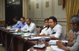 The Parliament's Human Rights and Gender Committee. PHOTO: HUSSEIN WAHEED/MIHAARU